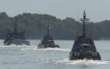 Министерство обороны показало, военные учения в Дунай